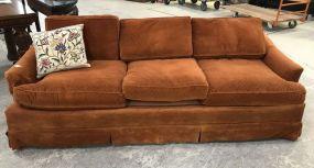 Warren Wrights Burnt Orange Sofa