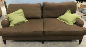 Large Upholstered Two Cushion Sofa