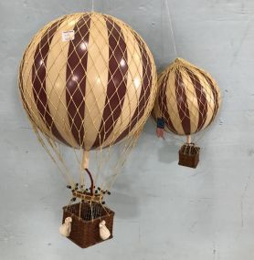 Two Decorative Hot Air Balloons