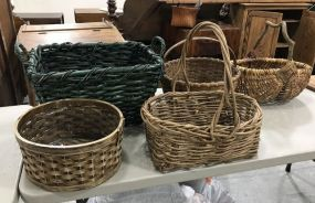 Group of Large Woven Baskets