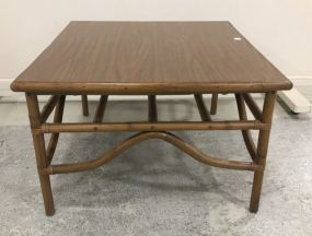 Bamboo Style Square Coffee Table
