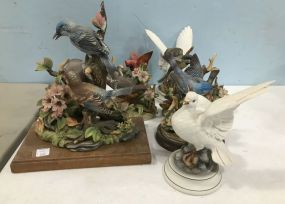 Large Collection of Ceramic and Porcelain Birds