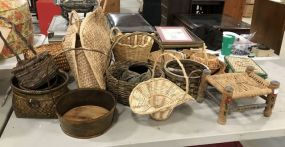 Large Collection of Woven Baskets