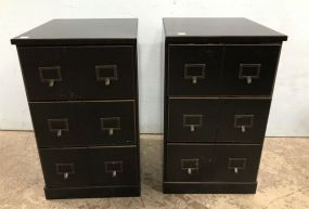 Pair Ballard Designs Index Card File Cabinets
