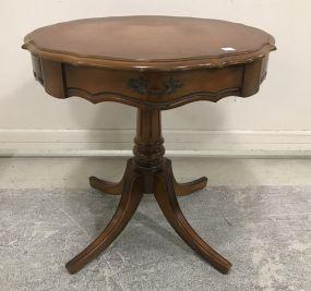 Modern Cherry Drum Table