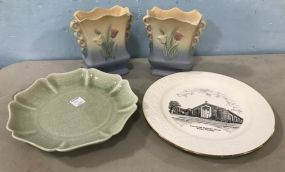 Collectible Plates and Hull Pottery Vases