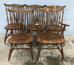Nichols & Stone Vintage Windsor Style Dining Chairs