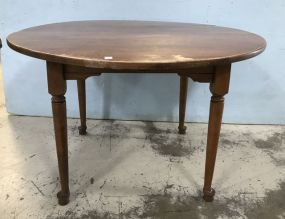Vintage Maple Round Dining Table