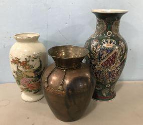 Three Decorative Vases