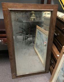 Vintage Oak Beveled Mirror