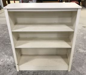 White Painted Two Shelf Bookcase
