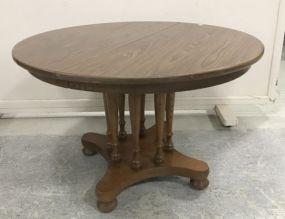 Pressed Wood Illuminated Wood Round Dinning Table