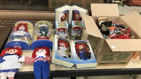 Collection of Raggedy Ann Dolls