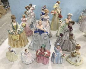 Hand Painted Porcelain and Ceramic Lady Figurines