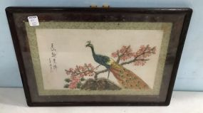 Framed Embossed Peacock Wall Art