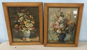 Pair of Vintage Frame Still Life Prints