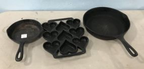 Iron Pans and Heart Mold