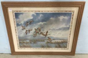 Framed Geese Print