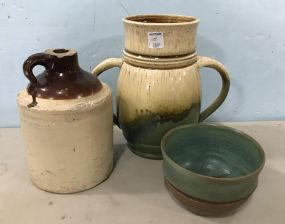 Three Pottery Decor Pieces