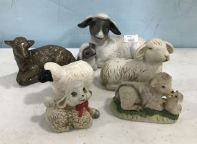 Ceramic Hand Painted Sheep and Goat