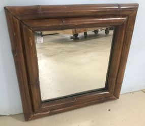 Square Bamboo Style Wall Mirror