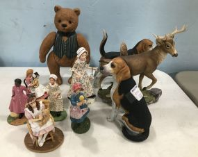 Figurines, Teddy, and Ceramic Animals
