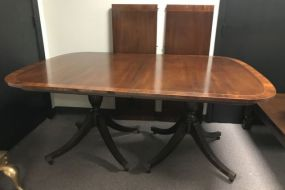 Banded Double Pedestal Dinning Table