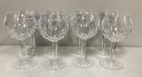 Eight Waterford Red Wine Goblets