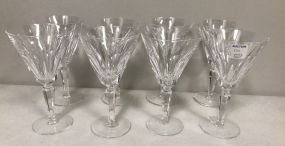 Eight Waterford Wine Glasses