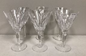 Six Waterford Wine Glasses