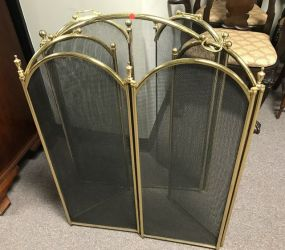 Two Brass Fireplace Screens