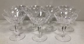Eleven Waterford Champagne Glasses