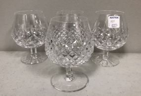 Four Waterford Brandy Glasses