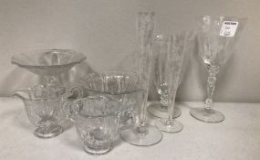 Group of Rose Point Glasses