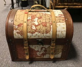 Decorative Strapped Trunk