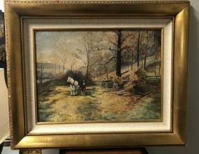 Landscape with Horse Oil Painting