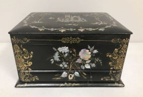 Antique English Mother of Pearl Dresser Box