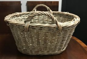 Large Woven Handled Basket