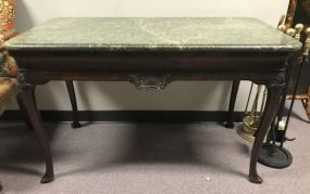 Antique Mahogany Mable Top Library Table