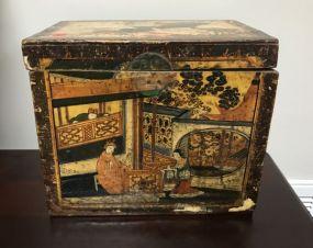 Vintage Oriental Hand Painted Box