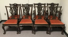 Eight Chippendale Ball-n-Claw Dinning Chairs