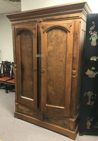 Antique Walnut Double Door Wardrobe