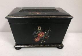 Black lacquer Tea Caddie