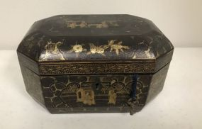 Vintage Oriental Style Tea Caddie