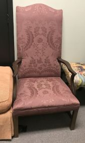 Pink Upholstered Hall Chair
