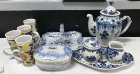 Collection of Blue and white Pottery