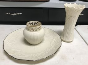 Lenox Porcelain Vases and Charger
