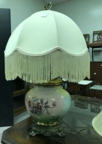Hand Painted Floral Glass Lamp