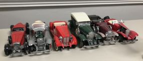 Six Collectible Model Cars