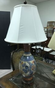 Large Hand Painted Vase Lamp